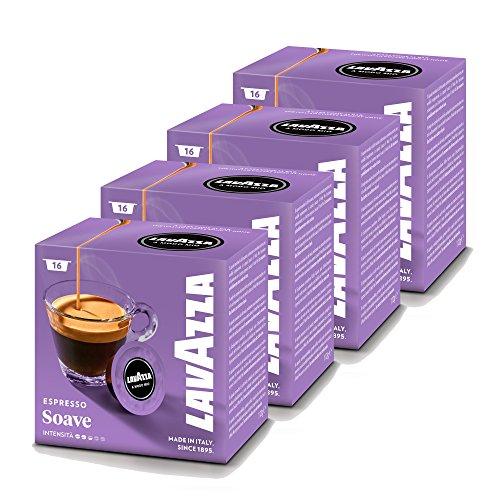 Lavazza A Modo Mio Soave Coffee Capsules (4 Packs of 16)