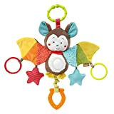 Fehn Activity Bat juguete colgantes para bebé - Juguetes colgantes para bebé (Multicolor, Asiento de bebé para coche, Cochecito/carrito de bebé, Niño/niña, De plástico, Lavado de manos, 250 mm)