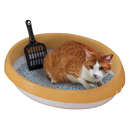 アイリスオーヤマ ネコのトイレ (スコップ付き) 三毛 M サイズ