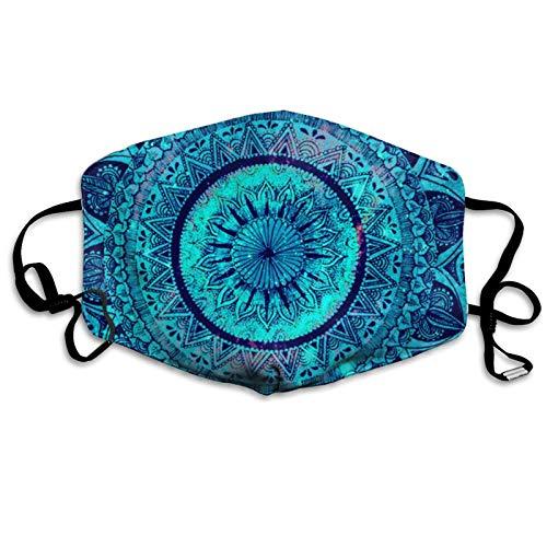 Blue Art Unisex Gesichtsschal Einstellbar Staubdicht Mundschutz Winddicht Face Bandanas Atmungsaktiv Gesichtsbedeckung
