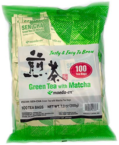 Authentic Maeda-en Japanese Sencha Green Tea - 100 Foil-Wrapped Tea Bags