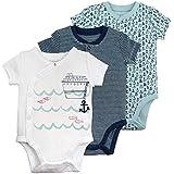 Mac & Moon Baby Boy Bodysuit Set, 3-Pack...