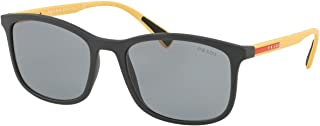 Prada Linea Rossa Sunglasses For Men, Grey PS01TS TFZ3C2 56 53 mm