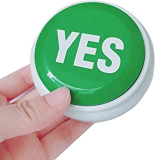 WLMALL The yes Button Toy-Talking Button - The yes Sound Button for Event Game Party Games Tools Holiday Supplies Christmas Board Games Toy Gift