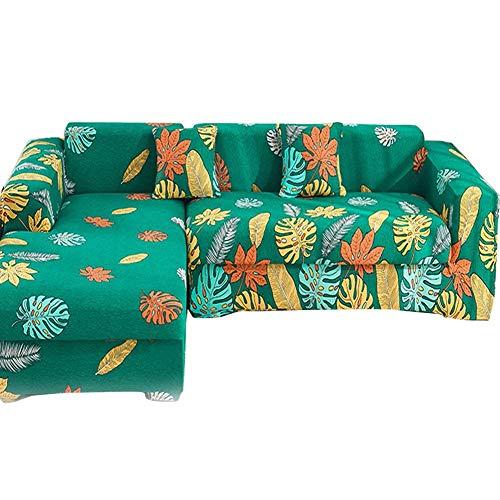 YILILI Funda elástica para sofá impermeable, antideslizante universal de microfibra elástica para sofá, 360 °, resistente a la abrasión de poliéster para cuatro estaciones de 92 'a 118'