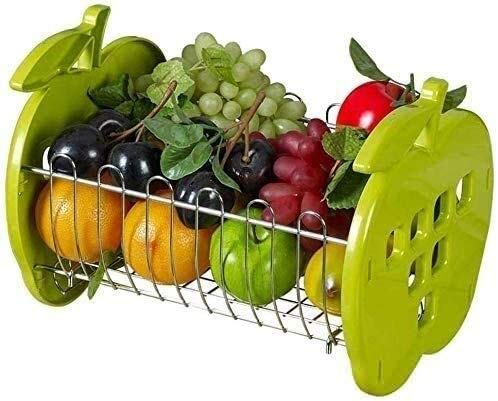 COLiJOL Fruit Bowl Kitchen Racks Kitchen Shelf Iron and Plastic Fruit and Vegetable Storage Basket Home Decorations Anticorrosion and Rust Prevention Durable Fruit Basket