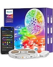 Govee Tira LED 5m RGBIC, Luces LED Decorativas de Efecto de Arcoíris Bluetooth, Control Segmentado Individual y DIY por App con Modo de Música y Escena, para Habitación, Sala de Estar, Fiesta, Bar