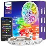 Govee Tira LED 5m RGBIC, Luces LED Bluetooth Decorativas de Efecto de Arcoíris, Control Segmentado Individual por App con Modo de Música y Escena, para Habitación, Gaming, Fiesta