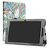 Acer Iconia Tab 10 A3-A50 Funda,LiuShan Folio Soporte PU Cuero con Funda Caso para 10.1' Acer Iconia Tab 10 A3-A50 Android Tablet,Love Tree