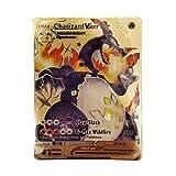 Charizard Vmax Custom Metal Card(Rainbow Gold Pokemon Card)