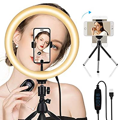"""10"""" Selfie Ring Light with 2 Tripod Stand  ..."""