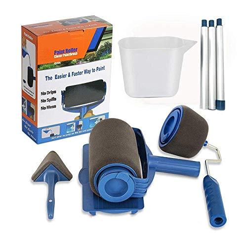 Verf Roller gevulbare Borstel Roller Set met Uitschuifbare Paal Kit voor DIY Wasbaar Apparatuur
