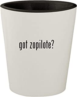 got zopilote? - White Outer & Black Inner Ceramic 1.5oz Shot Glass