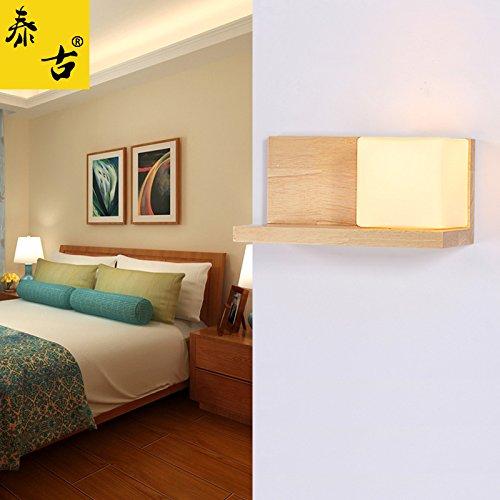 BOOTU La madera tiene sus propios interruptores de tracción de cable apliques de pared salón dormitorio