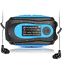 top rated Swimming MP3 player with clip, AGPTEK 8GB IPX8 waterproof music player, with headphones … 2021