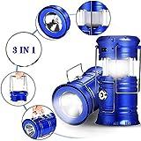 linternas portátiles de linterna de llama LED para exteriores: para kits de supervivencia para huracanes, luces de emergencia, tormentas, interrupciones, linternas portátiles al aire libre (Blue)