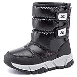 Botas de nieve para niños y niñas, caminando, senderismo, con forro de piel de invierno, cálidas, para clima frío, antideslizantes, botas altas, color, talla 30 EU