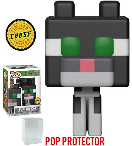 Minecraft Funko 8-Bit Pop! Games Tuxedo Cat Chase Variant Limited Edition Vinyl Figure (Bundled with Pop Box Protector CASE)