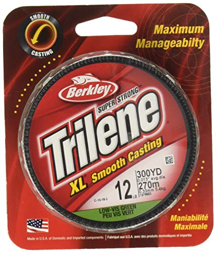Berkley Trilene XL Smooth Casting Monofilament Economy Packs, 10 Pound Test-300 Yard, Low-Vis Green