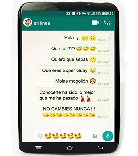 Artemodel Cojín Forma de Móvil Smartphone con Mensajes de Cariño, Amistad, Amor. 30cm