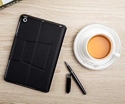 WLWLEO toetsenbord voor iPad Slim Caso beschermende behuizing Leather Folio vibratieafdekking met bluetooth toetsenbord draadloos voor iPad Mini1 / 2/3