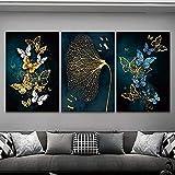 LYFWIN Schmetterling Poster & Drucke Lotus Leaf Wandkunst