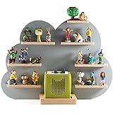 NOR28 Tonie Regal für bis zu 33 Tonie Figuren - Toniebox Regal im Motiv Wolke 40x55x19cm für Jungen und Mädchen   Kinderzimmer Regal für Tonies magnetisch, beliebig fixierbar