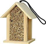 Luxus-Insektenhotels 22260e - Casetta per api Selvatiche con cannette/casetta per Insetti, Rettangolare, Colore Naturale