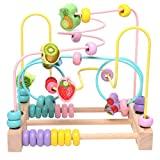 Bead Maze Kids Roller Coaster Wooden Educational Fruit Abacus Beads Circle Toys Gifts