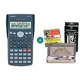Casio FX-82MS + Kit de geometría + CD de aprendizaje CALCUSO (en alemán)