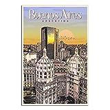 Buenos Aires – Argentinien Vintage Reise-Poster