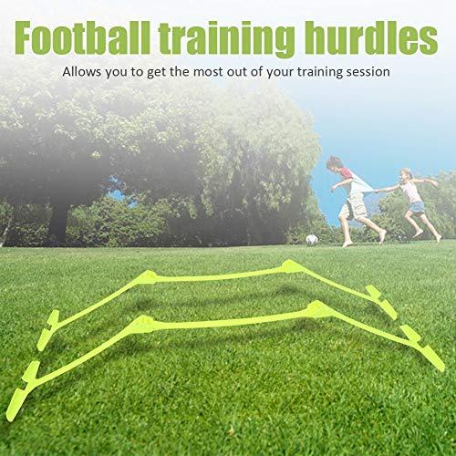 Fußballtrainingsgerät - 2 Stück Fußball, Fußball, Beweglichkeit, Geschwindigkeit, Trainingshilfen, einstellbare Hürden, gelb