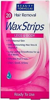 Beauty Formulas Hair Removal Wax Strips Legs & Body 20 pcs