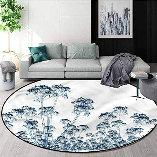 Learn More About RUGSMAT Flower Modern Machine Washable Round Bath Mat,Tropical Exotic Arrangement P...