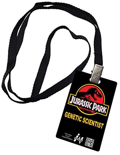 Jurassic Park Novelty ID Badge Prop Costume igen Genetic Scientist