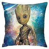 KINGAM Baby Groot - Funda de almohada para bebé (45,7 x 45,7 cm)
