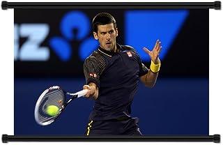 Novak Djokovic International Tennis Player Fabric Wall Scroll Poster (32