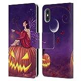 Head Case Designs Licenza Ufficiale Rachel Anderson Zucca Folletti Cover in Pelle a Portafoglio Compatibile con Apple iPhone X/iPhone XS