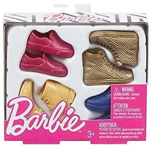 Barbie Mattel GHW73 Ken Mode Fashion Accessoires Set - 4 Paar Schuhe