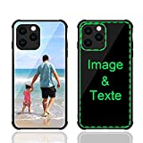 MXCUSTOM Coque Personnalisee Apple iPhone 11 Pro Max, Personnalisable Anti-Rayures Verre Trempe...