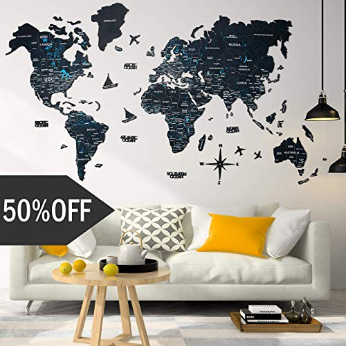 Enjoy The Woodwood World Map Wall Art Large Wall Decor World Travel Map All Sizes M L Xl Any Occasion Gift Idea Wall Art For Home Kitchen Or Office Dailymail