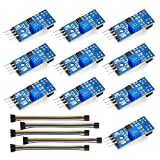 OSOYOO 10PCS TCRT5000 Infrared Reflective IR Photoelectric Switch Barrier Line Track Sensor Module for Arduino Smart Car Robot with 5 * 8Pin Female to Female Jumper Wires