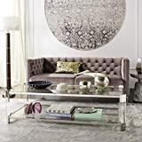 Safavieh Couture Home Gianna Glam Silver Acrylic Glass Top Coffee Table