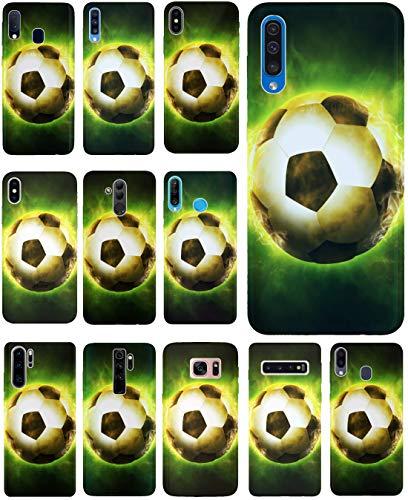 KUMO Hülle für Lenovo K5 Handyhülle Design 1314 Fußball Fussball Schwarz Grün aus flexiblem Silikon SchutzHülle Softcase HandyCover Hülle für Lenovo K5