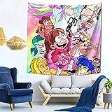 Hdadwy Gravity Falls Mabel Square Tapiz Decorativo 59 x 59 Pulgadas, Sala de Estar, Manta Decorativa para Dormitorio