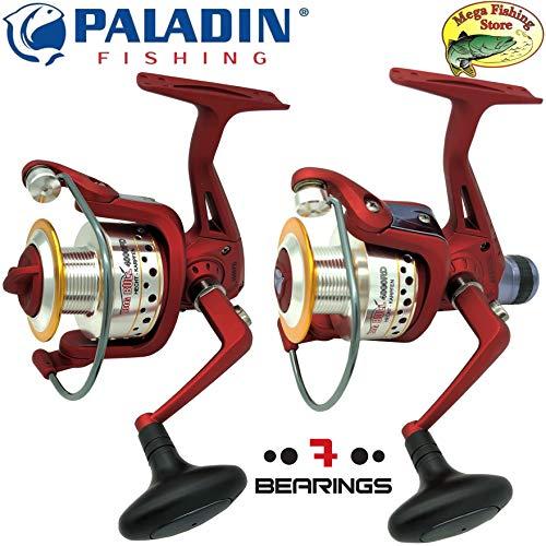 Paladin Big Bull Pro Spinrolle FD & RD - Spin Rolle/Angelrolle/Stationärrolle - 1000 bis 6000 mit Frontbremse oder Heckbremse + Ersatzspule (2000 FD (Frontbremse) - Schnurfassung: 260m/0,18mm)