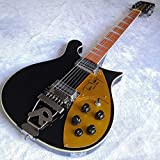 12 Strings Tom Petty Signature Style Electric Guitar 660 Black Electric Guitar Neck Thru Body Ztoyby. (Size : 39 inches)