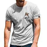 Flagge Fischkombinates Walter Dehmel DDR Hochseefischerei DSR T-Shirt#31627, Größe:Herren XXL, Farbe:Weiß