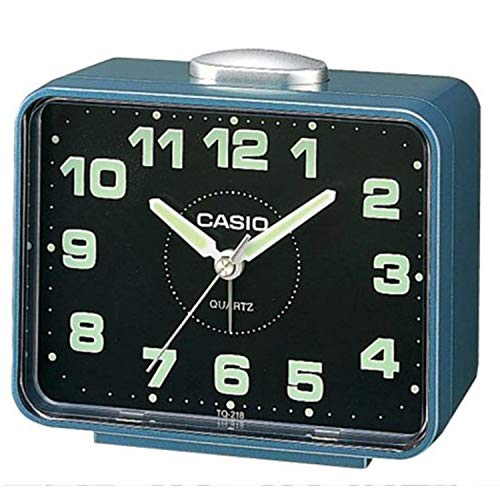 Casio Despertador sobremesa Azul Plateado TQ-218-2EF