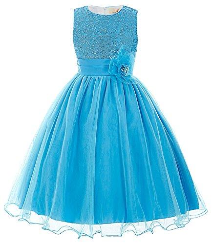 GRACE KARIN Maedchen Prinzessin Hochzeit Party Festzug Kleid Champagner ,11 jahre,  Blau